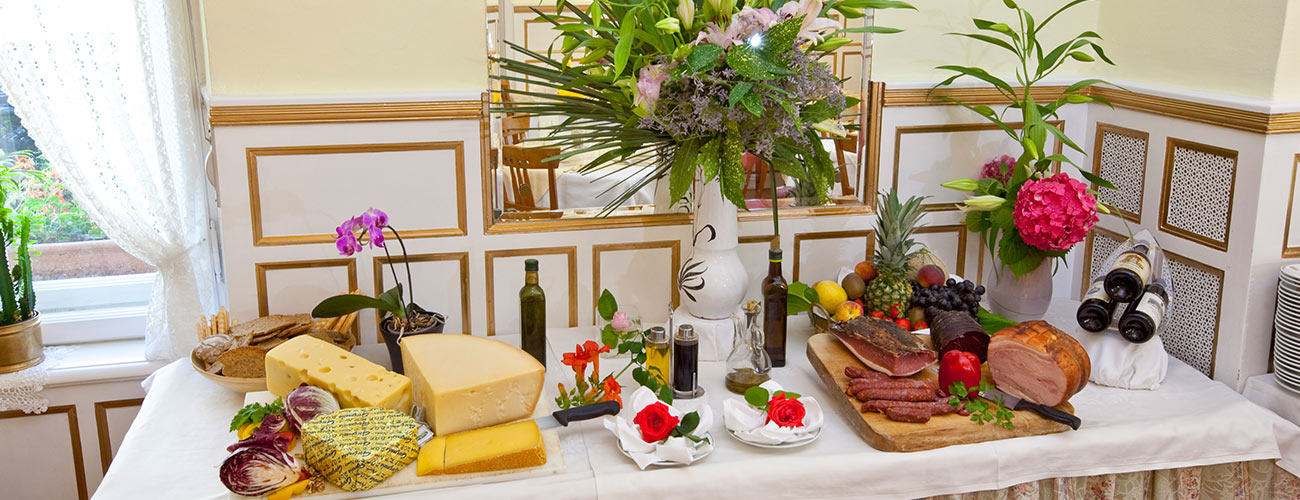 Cheese and cold cuts available to guests of the Hotel Westend