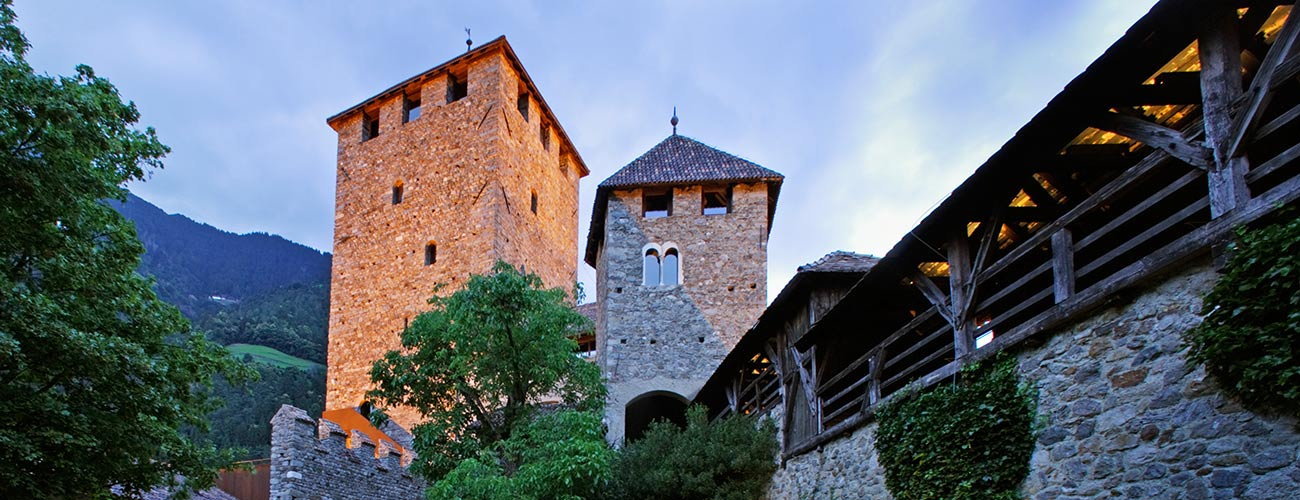Castle Tyrol in the evening at sunset