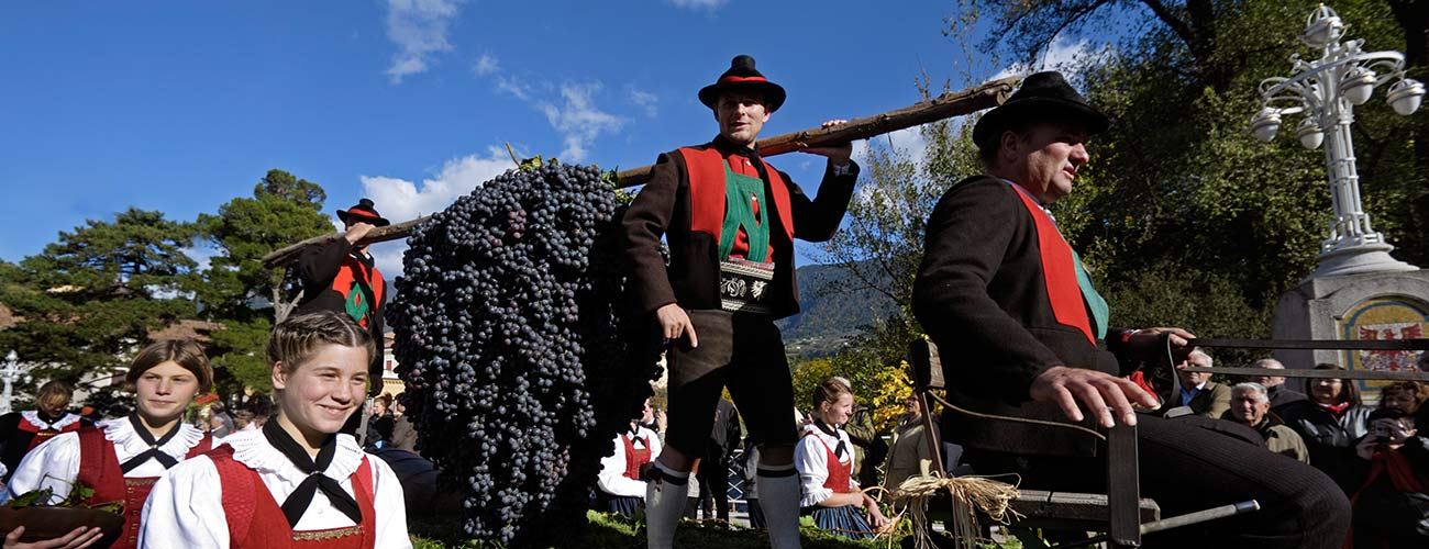 Procession for the Grape Festival in Merano