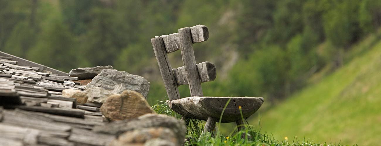 Wooden Bench in the mountains